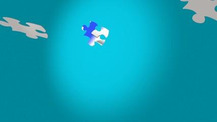 puzzle bleu blanc rouge B