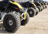 rear wheel of all-terrain vehicle arranged in a row