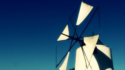Windmill in a sunny day at Portugal