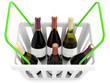 Shopping basket with wine bottles