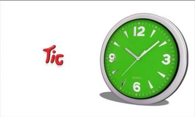 Orologio con Tic Tac animato
