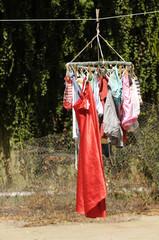 Ropa lavada, trabajo del hogar