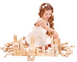 Child play building blocks.