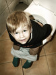 little boy on the toilet
