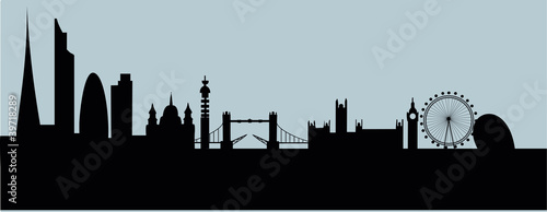 London new skyline 2012 vector