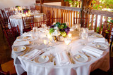 wedding table set for fine dining poster