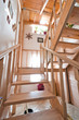 Wooden stairs inside house
