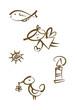 Abstrakte Symbole für Kommunion, Ostern, Konfirmation, ...