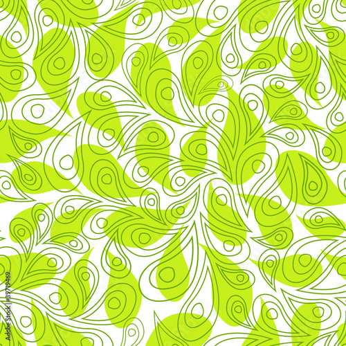 green leaves(EPS 8) seamless background