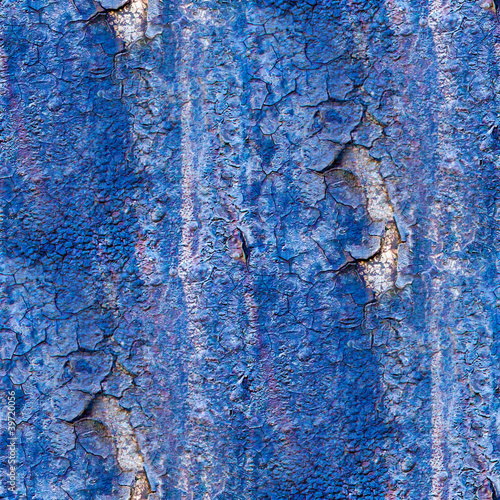 seamless texture of rusty blue colored rough - 39720056