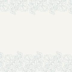 Classic wedding invitation with Damask pattern borders.