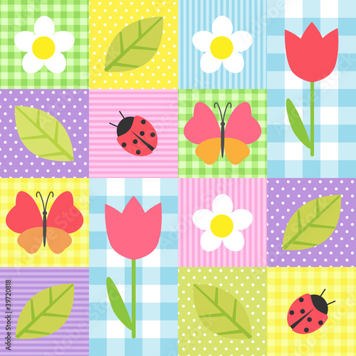Panel Szklany spring pattern