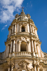 Cathedral Tower of Modica in Sicily