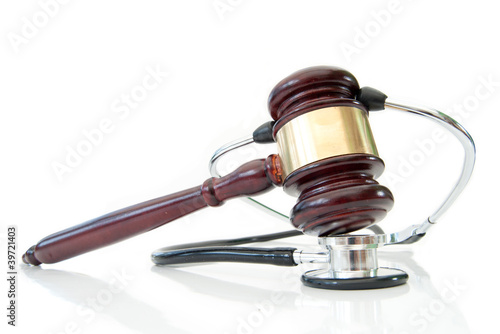Stethoscope and judges gavel