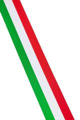 Nastro in tessuto diagonale tricolore Italia