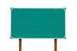 Big Blank Green Highway Sign Isolated