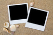 Summer beach photo frames