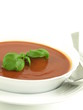 Tasty tomato soup for a starter, isolated