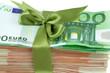billets en paquet cadeau