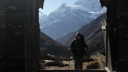 Traveler. Mountains. Nepal.