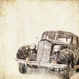 Fototapete Autos - Hintergrund - Retro
