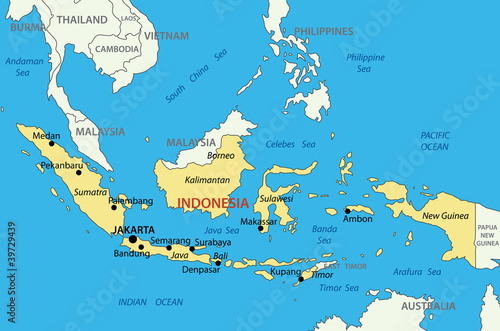 Republic of Indonesia - vector map