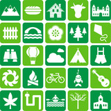 Fototapety icons of nature, mountain and outdoor activities