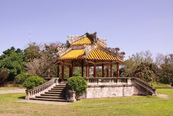 A temple in the forbidden city in Hue in Vietnam