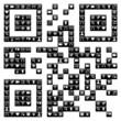 QR code design with social media icons set