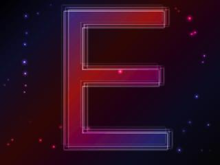 Energy plasma font. Letter E