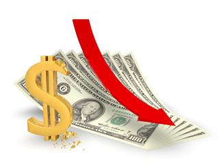 Снижение курса доллара