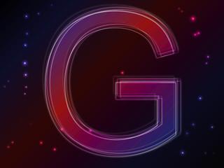 Energy plasma font. Letter G
