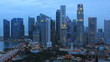 Time Lapse Singapore Skyline at Dusk.