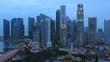 Time Lapse Singapore Skyline at Dusk.