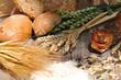 Getreide und Brötchen