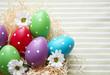 Gepunktete Ostereier mit Blumen 1