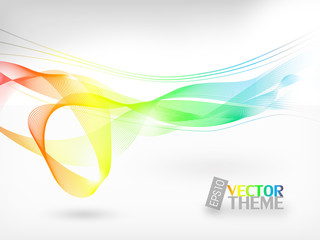 Colored abstract vector theme