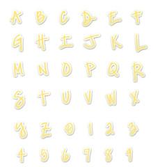 Yellow Sticker Style ABC's