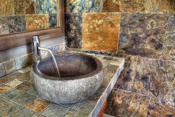 Salle d'eau design moderne.