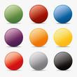 Button set und kreis Kugel icon farben globus aqua shine
