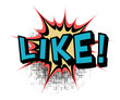 Like.Comic book explosion.Vector illustration.