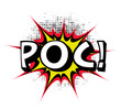 Poc. Comic book explosion. Vector illustration.