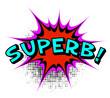 Superb. Comic book explosion.Vector illustration.
