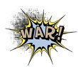 War.Comic book explosion.