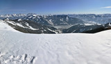 Panorama in Zell am See ski resort, Austria