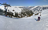 Panorama of Zell am See ski resort, Austria
