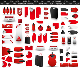Big set of price tag.Vector illustration