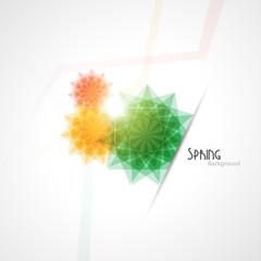 Spring background.Vector illustration.