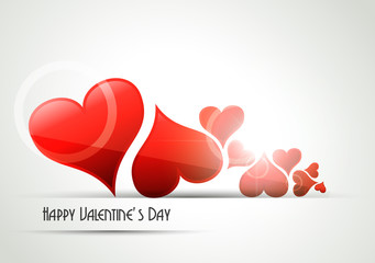 Valentine`s Day greeting card. Vector illustration.