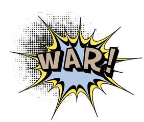 War.Comic book explosion.